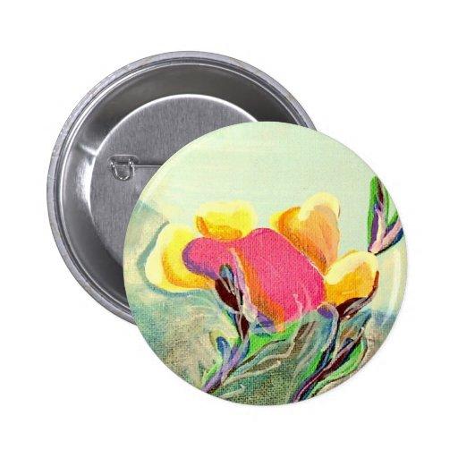 Amapola de California Pin Redondo 5 Cm