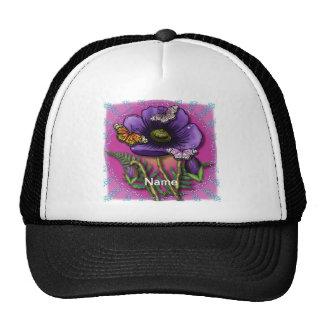 Amapola de la púrpura de la mariposa gorro de camionero