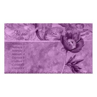 Amapola de la violeta africana tarjetas de visita