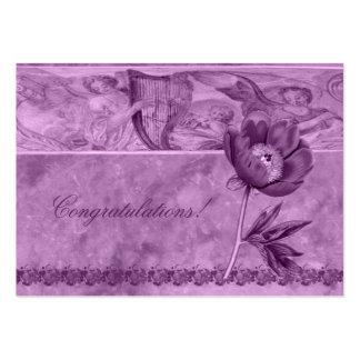 Amapola de la violeta africana tarjetas de visita grandes