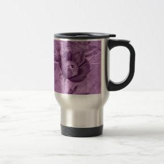 Amapola de la violeta africana taza de viaje