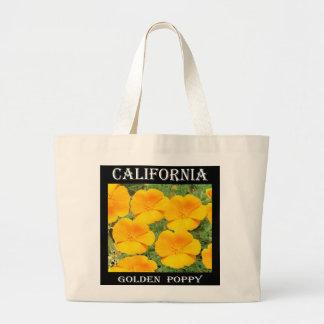 Amapola de oro de California Bolsa Tela Grande