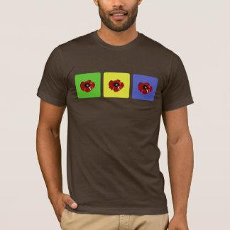 Amapola en camisa coloreada de los cuadrados