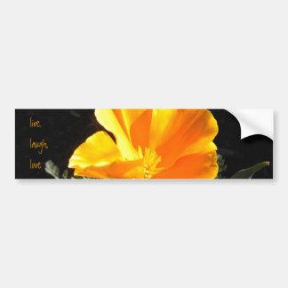 Amapola floreciente pegatina para auto
