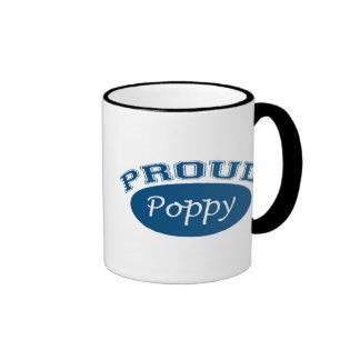 Amapola orgullosa (azul) tazas