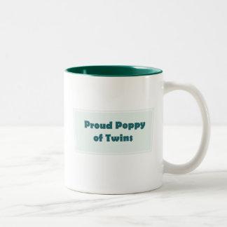 Amapola orgullosa de gemelos taza