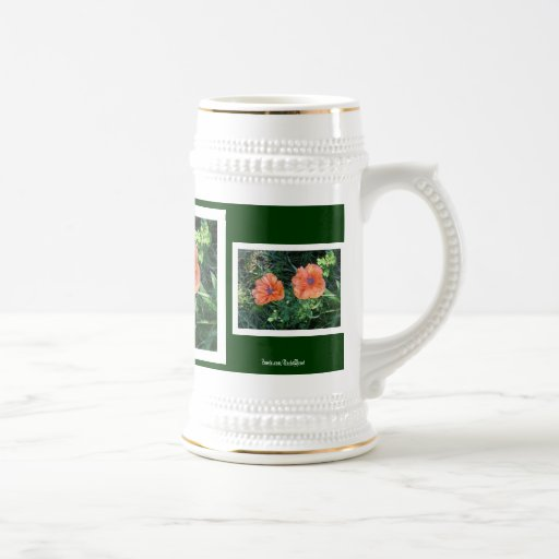 Amapola oriental #2 tazas de café