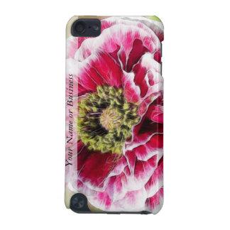 Amapola rizada - color de rosa rico funda para iPod touch 5G