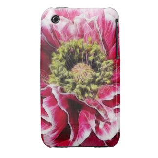 Amapola rizada - color de rosa rico iPhone 3 Case-Mate carcasas
