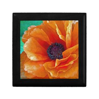 Amapola roja brillante de la floración sin defecto cajas de recuerdo