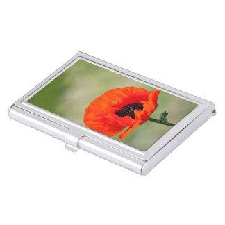 Amapola roja caja de tarjetas de presentación
