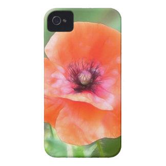 Amapola roja de Flandes Case-Mate iPhone 4 Cárcasa