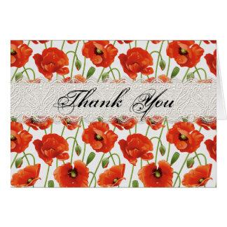 Amapola roja del verano tarjeta de felicitación