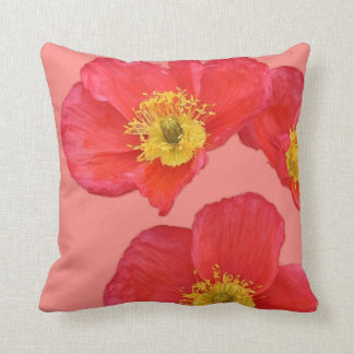Amapola roja Flowerss Almohadas