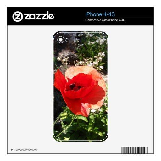 Amapola roja iPhone 4 skin