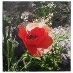Amapola roja servilleta