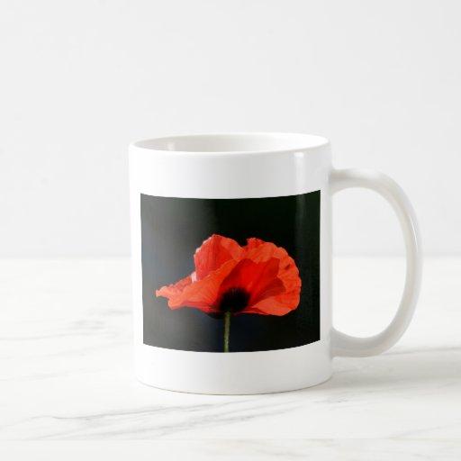 Amapola roja taza