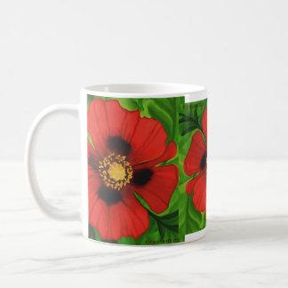 Amapola roja taza clásica