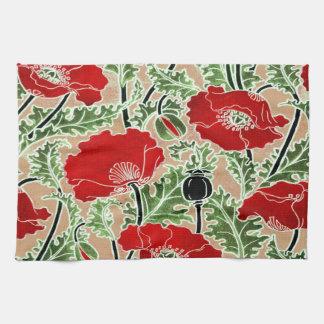Amapola roja toallas