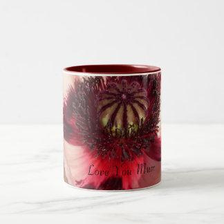 Amapola rosada - ámele momia taza de dos tonos