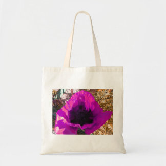Amapola rosada bolsa tela barata