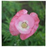 Amapola rosada servilleta imprimida