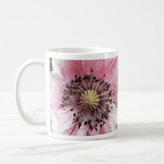Amapola soplada viento tazas de café