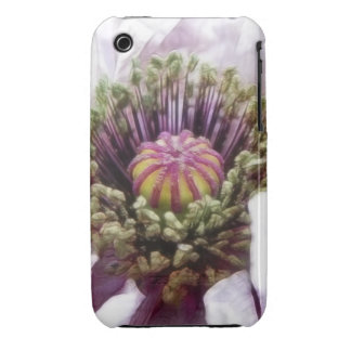 Amapola - volantes púrpuras elegantes Case-Mate iPhone 3 fundas