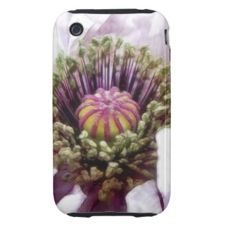 Amapola - volantes púrpuras elegantes iPhone 3 tough protectores