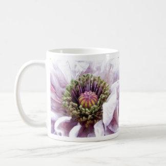 Amapola - volantes púrpuras elegantes tazas de café