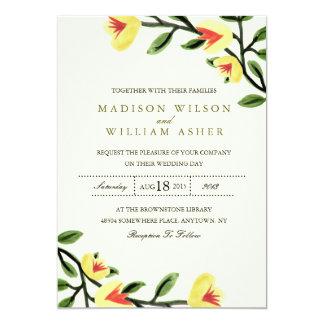 Amapolas amarillas que casan la invitación