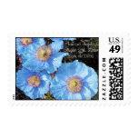 Amapolas azules que casan reserva los sellos de la