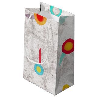 Amapolas brillantes del bolso mate bolsa de regalo pequeña