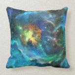 Amapolas celestiales - almohada azul del decorador