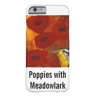 Amapolas con el caso del iPhone 6 de Meadowlark