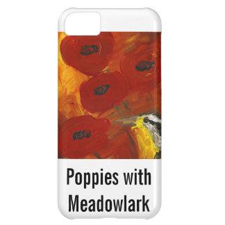 Amapolas con el caso del iPhone de Meadowlark