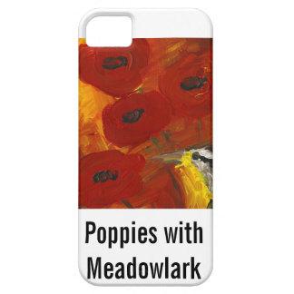 Amapolas con el caso del iPhone de Meadowlark iPhone 5 Cobertura