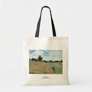 Amapolas de Claude Monet Bolsas De Mano