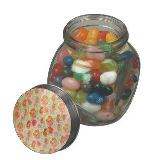 Amapolas de la acuarela del vintage frascos de cristal