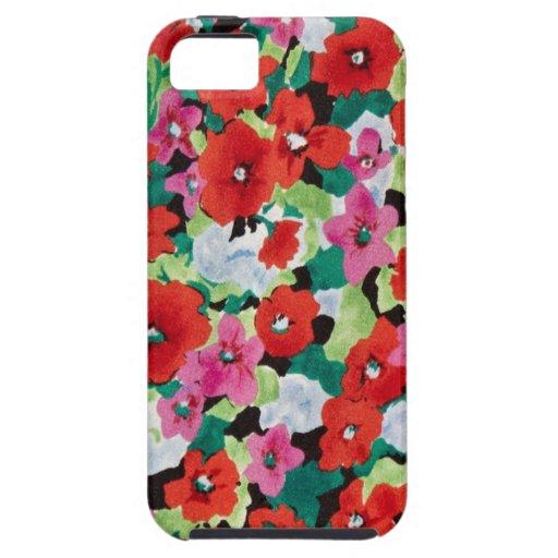 Amapolas de la primavera de la acuarela iPhone 5 Case-Mate funda