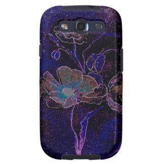 Amapolas de la púrpura de la galaxia S de Samsung Galaxy SIII Carcasa