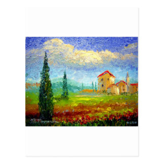 Amapolas de Toscana Tarjetas Postales