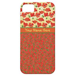 Amapolas del escarlata, brotes: caja de la funda para iPhone SE/5/5s
