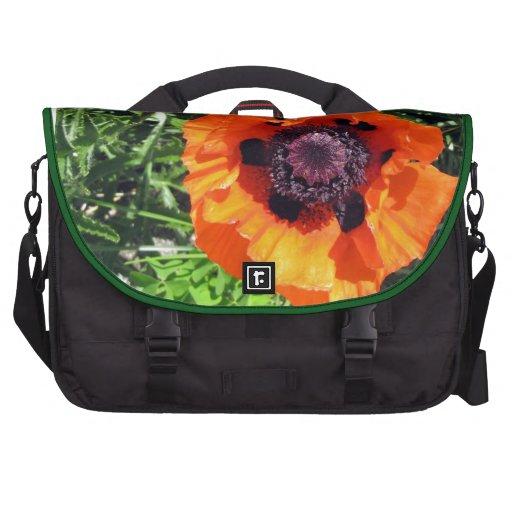 Amapolas del naranja de la amapola bolsas de portátil