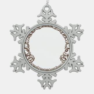 Amapolas del Ornamental de Nouveau del arte Adorno De Peltre En Forma De Copo De Nieve