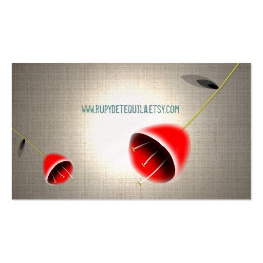 Amapolas del rojo de las tarjetas de visita