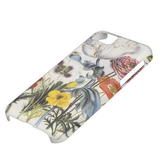 Amapolas en el jardín, flores del vintage del carcasa para iPhone 5C