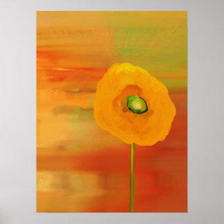 Amapolas en la floración póster
