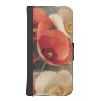 Amapolas en la plena floración billeteras para teléfono