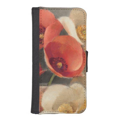 Amapolas en la plena floración cartera para teléfono